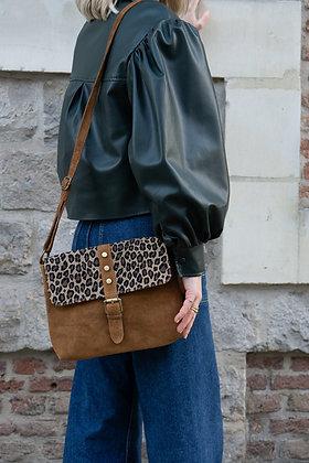 Tally Camel Mini Cheetah Leather Crossbody Bag - Jijou Capri