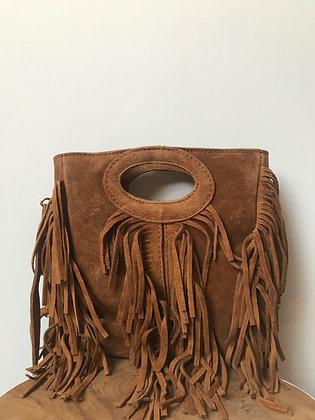 Mini Seville Brown Suede Crossbody Bag - Jijou Capri