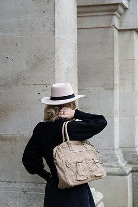 Kate Beige leather Handbag - Jijou Capri