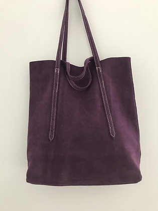 Sibilla Purple Suede Handbag - Jijou Capri
