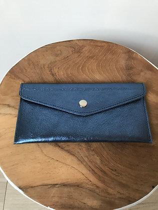 Wallet Bobo Metallic Blue - Jijou Capri
