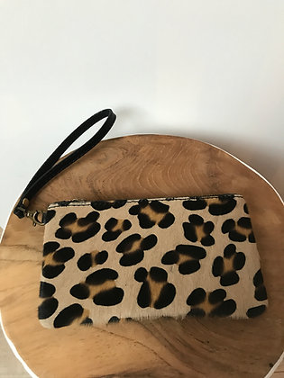 Leopard Ziplet Pony Leather Wallet - Jijou Capri