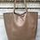Thumbnail: Brown Leather Tote Bag - Jijou Capri