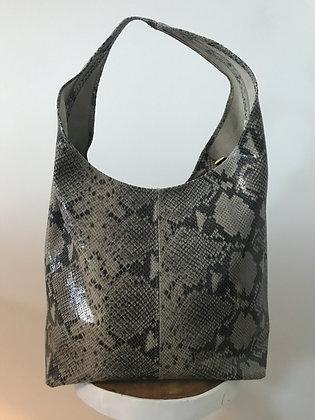 Sacca Olive Pitone Leather Handbag - Jijou Capri