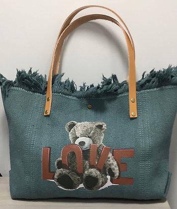 Teddy Bear Canvas Bag JIJOU CAPRI