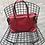 Thumbnail: Belfort Red Grained Leather Handbag - Jijou Capri