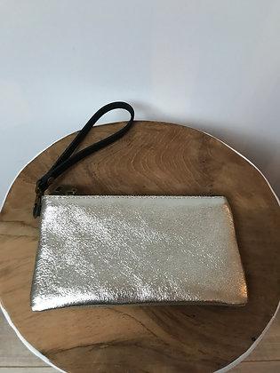 Gold Ziplet Metallic Leather Wallet - Jijou Capri