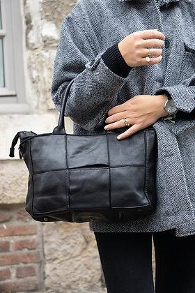 Black Evangeline Vintage leather handbag - Jijou Capri