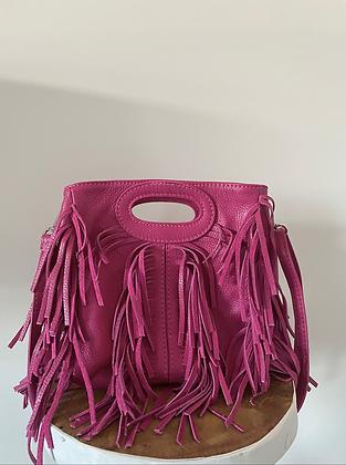 Mini Seville Fuchsia Leather Crossbody Bag - Jijou Capri