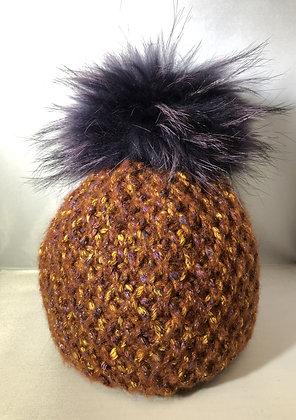 Beanie Chunky knits JJ90 Rust  - Jijou Capri