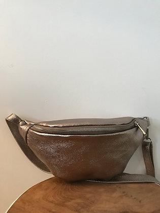 Fanny Pack Bronze Metallic Leather - Jijou Capri