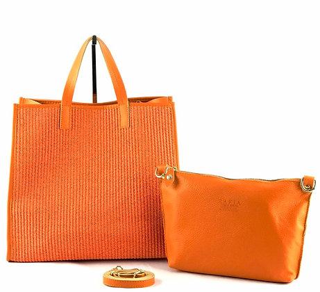 Gerard Raffia Leather Tote Bag