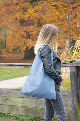 Gisele Blue Leather Tote bag - Jijou Capri