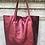Thumbnail: Metallic Wine Leather Tote - Jijou Capri
