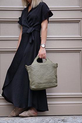 Nancy Woven Leather Handbag