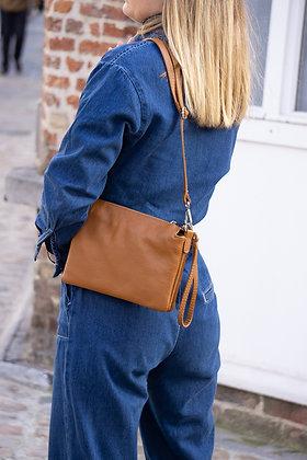 Elvira Grained Leather Crossbody bag