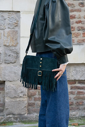 Joy Green Leather Crossbody Bag - Jijou Capri