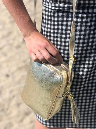 Misa Metallic Leather Gold Bag - Jijou Capri