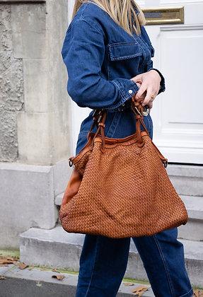Patricia Camel Vintage Leather Handbag - Jijou Capri