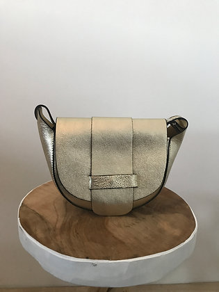 Gold Vivi Metallic Crossbody Bag - Jijou Capri