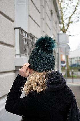 Chunky knits Beanie JJ80 Green - Jijou Capri
