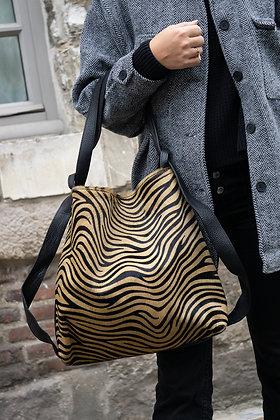 Zebra Zaino Futura Pony leather handbag- Jijou Capri