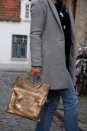 Twiggy Metallic Leather Handbag
