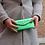 Thumbnail: Wallet Bobo Metallic Bright green - Jijou Capri