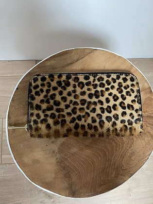 Kate Mini Cheetah leather Pony Wallet - Jijou Capri