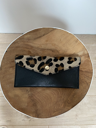 Big cheetah Wallet Bobo Pony leather - Jijou Capri