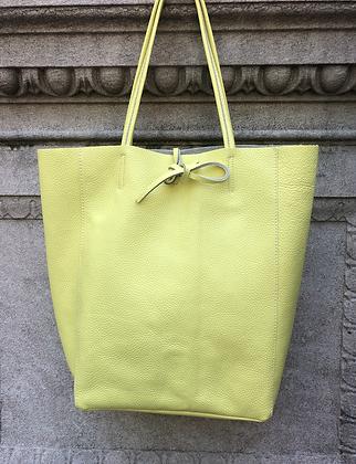 Lemon Leather Tote Bag - Jijou Capri