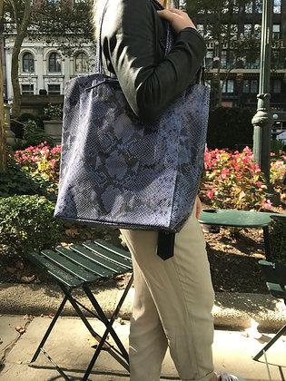 Celeste Blue Snake Print Tote Bag - Jijou Capri