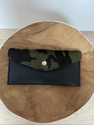 Army Wallet Bobo Pony leather - Jijou Capri