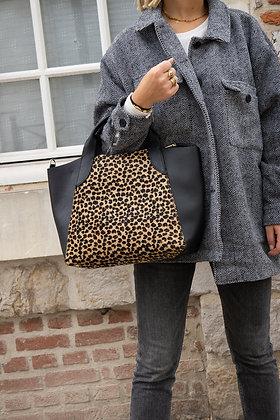 Cindy Mini Cheetah Pony leather handbag - Jijou Capri