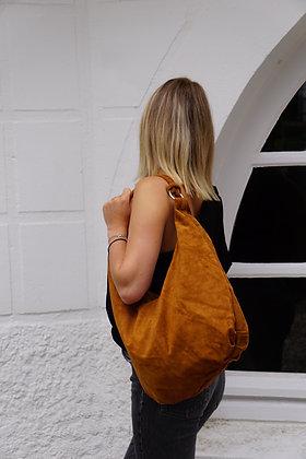 Sonya Hobo Suede Leather Handbag