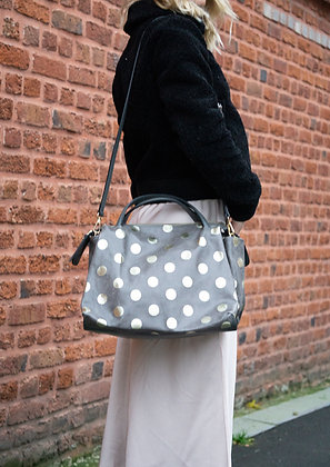Jasmine Dots Leather Handbag