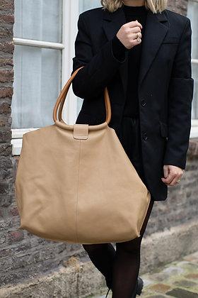Beige Maxi Shopper Bellen Bag - Jijou Capri