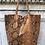 Thumbnail: Brown Snake Print Tote Bag - Jijou Capri