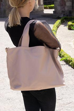Blush Athena Grained Leather Handbag - Jijou Capri