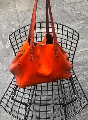 Orange Luxy Pony Hair Bag - Jijou Capri