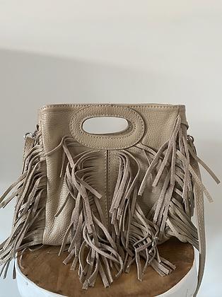 Mini Seville Beige Leather Crossbody Bag - Jijou Capri