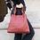 Thumbnail: Quatro side Red Leather Handbag - Jijou Capri