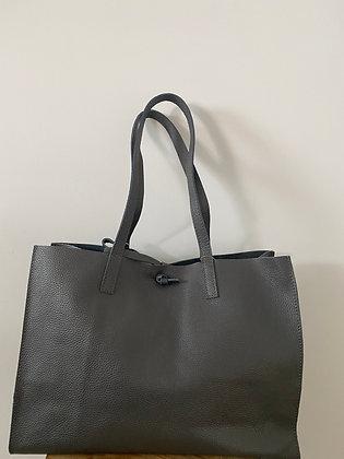Anthracite Colette Leather Tote Bag - Jijou Capri