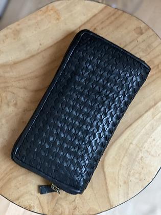 Black Mila Wallet Woven  - Jijou Capri