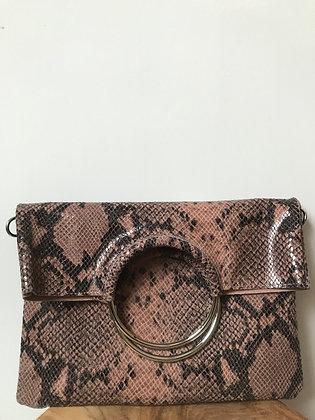 Twiggy Blush Snake Leather Handbag - Jijou Capri