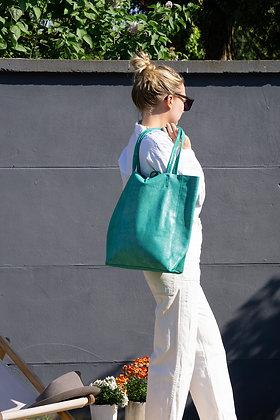 Green Glitter Leather Tote Bag - Jijou Capri