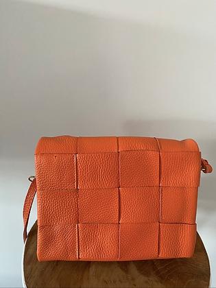 Orange Damier Crossbody Bag - Jijou Capri