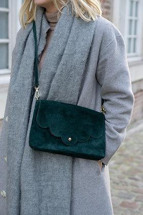 Suzie Green Suede Leather Crossbody Bag - Jijou Capri