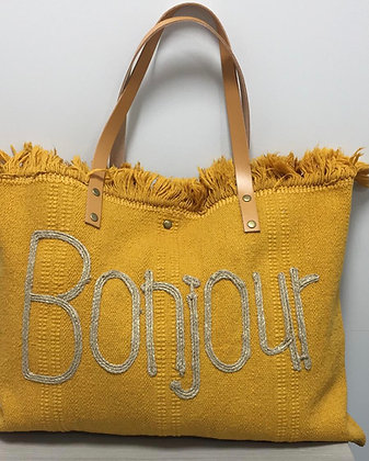 BONJOUR  Canvas Tote Bag