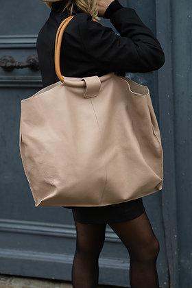 Taupe Maxi Shopper Bellen Bag - Jijou Capri